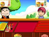 Serving Hamburgers